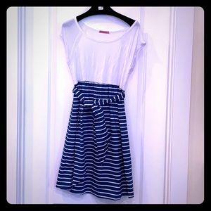 Maternal America Striped Maternity Dress